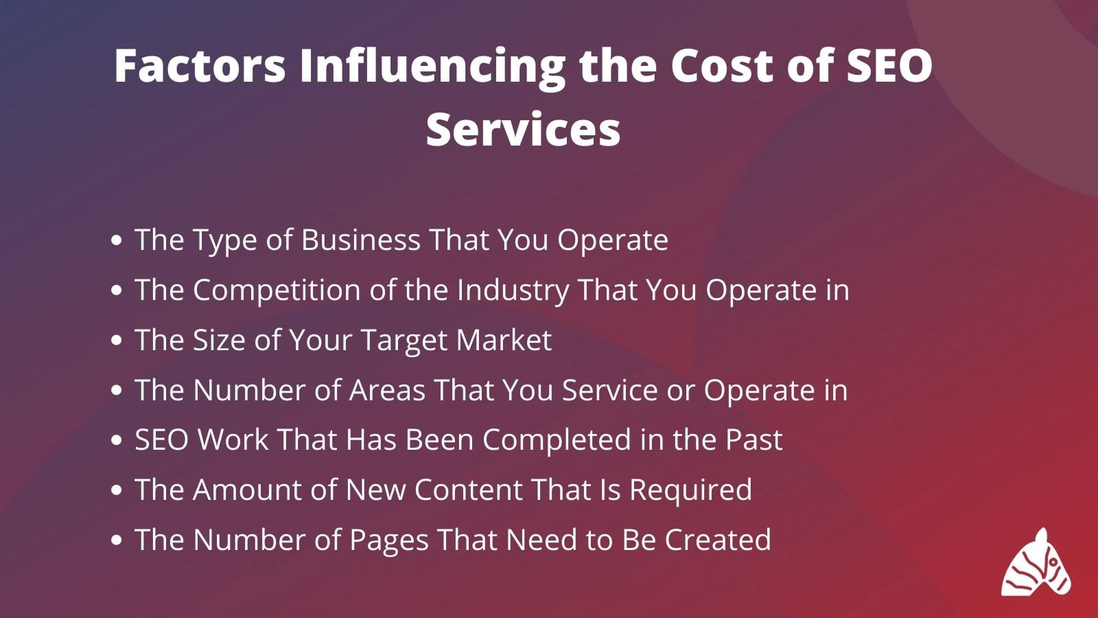 factors influencing the cost of SEO services