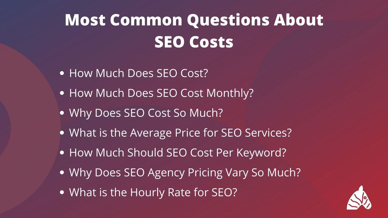 most common questions around SEO prices