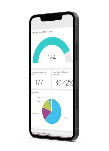 iphone with SEO analytics on the screen